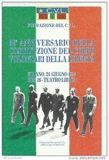 50° ANNIVERSARIO DELLA COSTITUZIONE DEL CORPO VOLONTARI DELLA LIBERTÀ, 1994