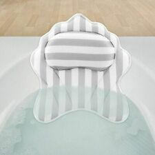 Bath Tub Pillow Neck Bathtub Cushion Back Support Headrest Suction Cup Quick Dry