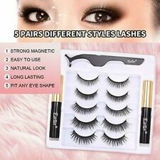 Glamnetic Magnetic Eyelashes&Eyeliner Kit Reusable 3D Natural LooK Lashes 5 Pair