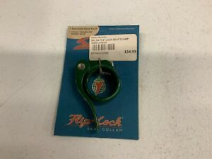 New old stock, Salsa Flip Off Quick Release Seatpost clamp, 35mm, Green