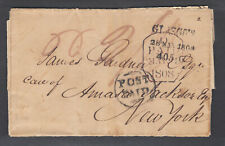 Great Britain 1808 Stampless Sfl Glasgow-New York, mentions War With America
