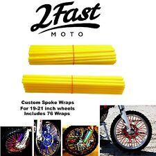 2FastMoto Spoke Wrap Kit Golden Yellow Custom Spokes Wheels Colours Yamaha