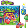Kids Slime Gush Ball goozooka Diy Super Slime 8 Colourful Balls Making Kit Set