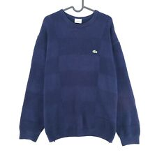 LACOSTE Blue Crew Neck Sweater Jumper Pullover Size 6 - XL