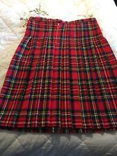 Red Tartan Kilt Skirt (not wrap around) Hand made Size 14/16