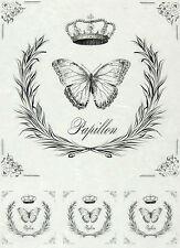 Papel De Arroz Para Decoupage, Scrapbook Hoja, etiquetas de Artesanía Vintage Mariposa