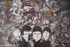 "Oasis ""Caricature Drawing Of The Band"" Poster From Asia - U.K. Alt Rock Music"