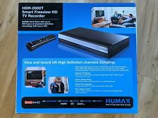More details for humax hdr-2000t 500gb smart freeview hd tv recorder box with original box