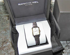 RAYMOND WEIL TRADITION 5956 GOLD PLATED TWO TONE WOMENS  WATCH BOXED  RRP £999