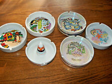 Lot of 6 Collectible Ashtrays from Bahamas, Belize, Cayman Islands and America