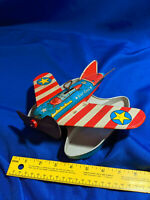 VINTAGE OHIO ART TIN LITHO WIND UP COAST GUARD SEA PLANE TOY 50s-60s rare