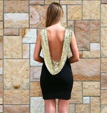 Women Bandage Sleeveless Club Party Cocktail Mini Dress Backless Size S #R3