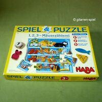 1, 2, 3 Mäusezählerei Spiel & Puzzle Lernsspiel ab 2+ Jahren von Haba  4262 Top!