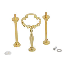 Vintage Party 3 Tier GOLDEN FLORAL Cake Cupcake Plate Stand Handle Fittings Tool