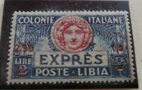 Colonie Italiane Libia 1926 Varietà Espresso 2,50 su 2 Lire**mnh