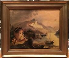 GRANDE dipinto ad olio (datato 1808) firmato a Nord SCUOLA ITALIANA dopo CLAUDE gellée
