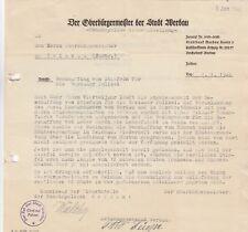 WERDAU, Brief 1946, Der Oberbürgermeister der Stadt