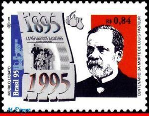 2525 BRAZIL 1995 LOUIS PASTEUR, FAMOUS PEOPLE, HEALTH, MI# 2634 RHM C-1933, MNH