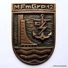 Marinefernmeldegruppe 12 - Old German Navy Bronze Tampion Plaque Badge Crest