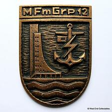 Marinefernmeldegruppe 12 - Old German Navy Bronze Tampion Plaque Badge Crest