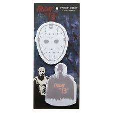 FRIDAY THE 13TH MOVIE JASON HOCKEY MASK LOGO STICKY MEMO NOTE PAD 2 PACK SET NWT