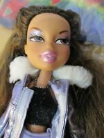 Bratz Doll long dark brown hair jacket & bag skirt top &1 pair high heels