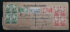 RARE 1939 New Zealand O.H.M.S. Cover ties 10 Health stamps Wellington