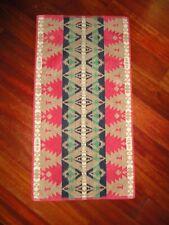RALPH LAUREN RED BLACK GREEN TAN TRIBAL SOUTHWESTERN (1) HAND TOWEL 16 X 30