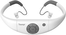Tayogo Waterproof mp3 Player swimming, waterproof 8GB for Swimming Headset,sport