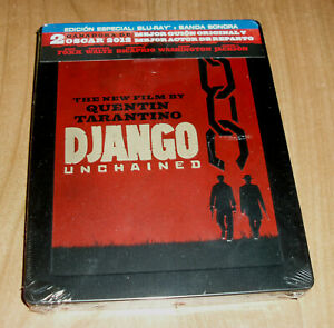 Django Unchained Blu-Ray + Soundtrack New Sealed Steelbook Action a-B