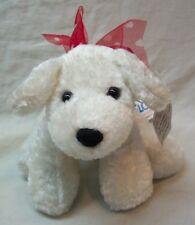 "Mary Meyer MINI MARSHMALLOW WHITE DOG W/ RED HEART BOW 5"" Plush STUFFED ANIMAL"