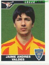JAIME ANDRES VALDES CHILE US.LECCE RARE UPDATE STICKER CALCIATORI 2005 PANINI