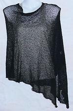 PONCHO NOIR GILET CACHE COEUR PULL FEMME TAILLE UNIQUE SHRUG BLACK WOMENS