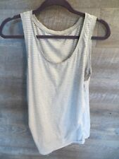 GAP MATERNITY Tank Pure Body Tank Top Gray Striped XL sleeveless tunic ruched