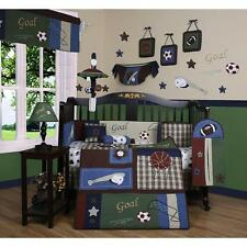 Boys Sports Crib Bedding Baseball Football 13 Pc Set Baby Toddler Infant Quilt