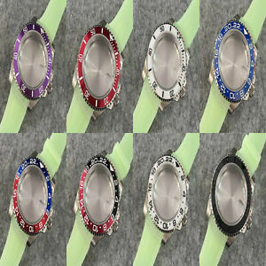 40mm 316 Stainless Steel Magnifying Glass Sapphire Glass Case for NH35 Movement