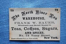 The North River Tea Warehouse, New York Business Card, Circa 1870's