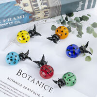 Hand Blown Art Glass Mini Insect Paperweight Ladybug Sculpture Decor Gift 6pcs