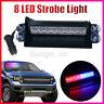 8 Led Car Strobe Light Flashing Mode Emergency Vehicle Dash Warning  Red/Blue