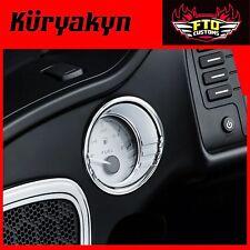 Kuryakyn Tri-Line Fuel /& Voltage Gauge Bezels Black For Road Glide 15-17