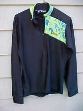 Vintage Lowe Alpine Medium Cycling Jersey Shirt Pullover Black FREE SHIPPING