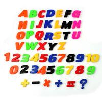 52tlg.Magnet Buchstaben Zahlen Magnetbuchstaben Kühlschrankmagnet Lernspiel TDS