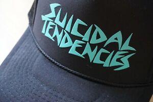 Suicidal Tendencies OG Flip Hat (Black / Turquoise) Unisex Meshcap
