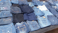 50 Pairs Ladies Blue Jeans Bulk Sale Many Brands Mixed Lots & Sizes (Great Cond)