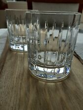 More details for a pair crystal glass whisky tumblers vgc