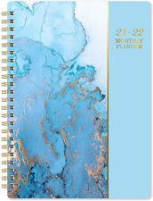 Task Planner 2021 2022 Monthly Diary 18 Month Thick Paper Blue Day Designer 360