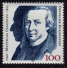 W Germany 1990 Matthias Claudius, Poet SG 2322 MNH