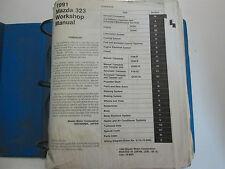 1991 Mazda 323 Protege Service Repair Shop Manual FACTORY OEM 91 BOOK