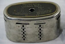 Antique Coin Saving Wealthometer Bank Silver Plate