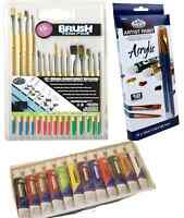 ARTIST ACRYLIC PAINTING SET 12 X 12ml TUBES PAINT & 15 BRUSHES - RART15 & ACR12